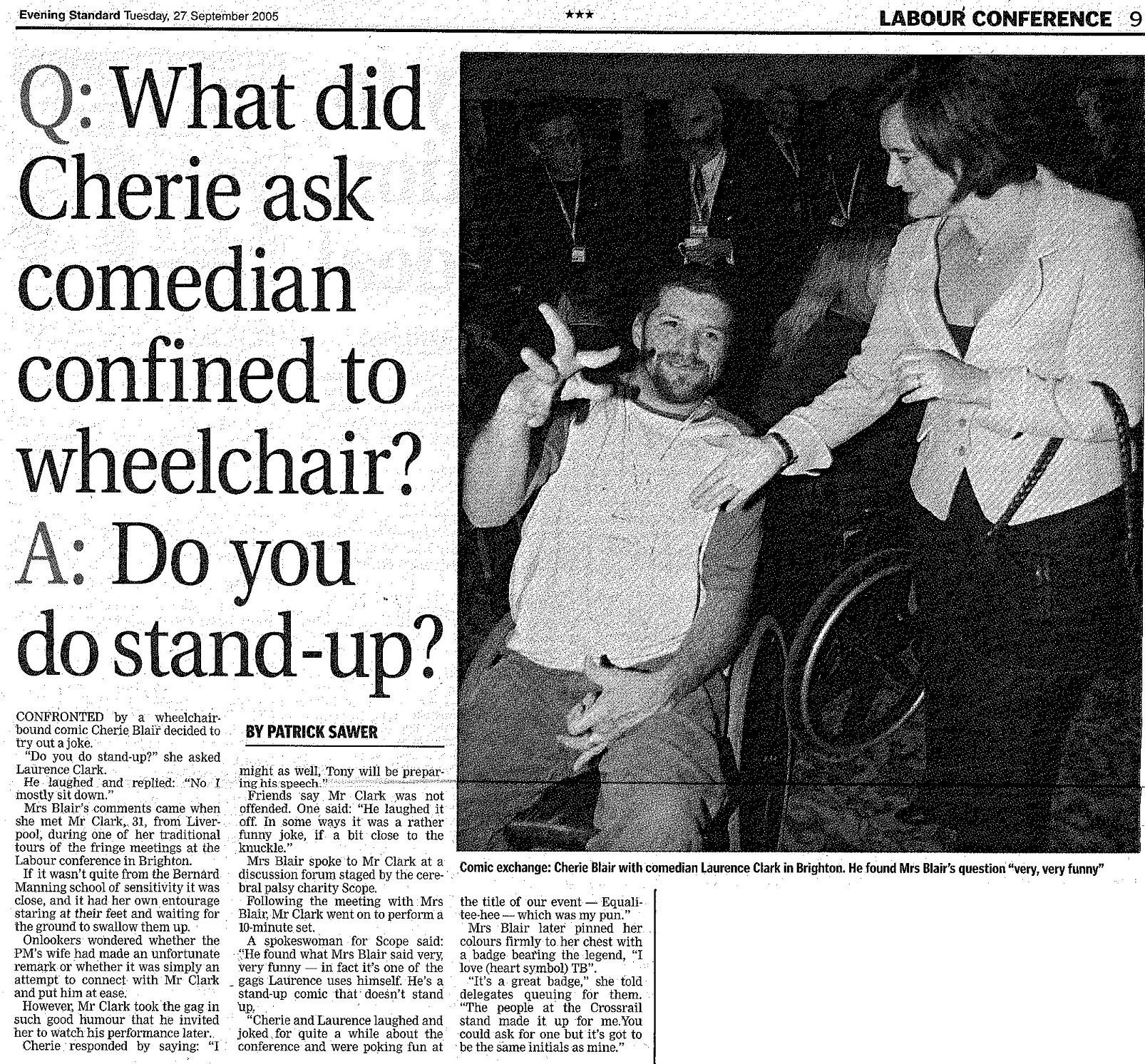 Evening Standard 27.9.05
